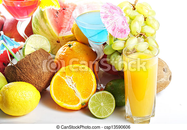 Fruits and drinks - csp13590606
