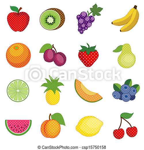Fruits and Polka Dots - csp15750158