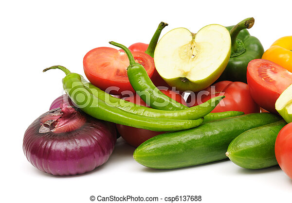 fruits and vegetable  - csp6137688