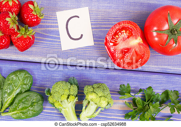 Fruits and vegetables containing vitamin c and minerals pictures fruits and vegetables containing vitamin c and minerals healthy lifestyle and nutrition concept csp52634988 workwithnaturefo