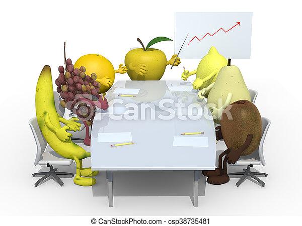 fruits business meeting - csp38735481