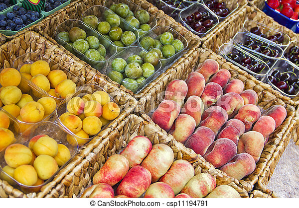 Fruits in a market - csp11194791