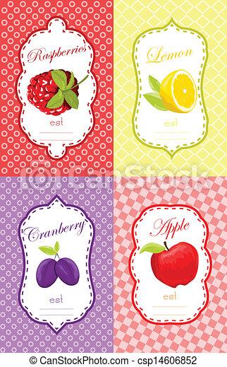 Fruits label design - csp14606852