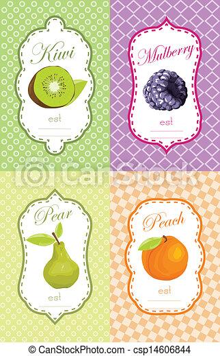 Fruits label design - csp14606844