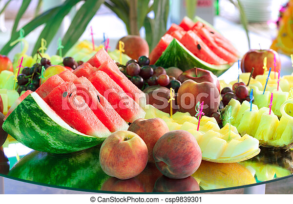 Fruits on mirror stand - csp9839301