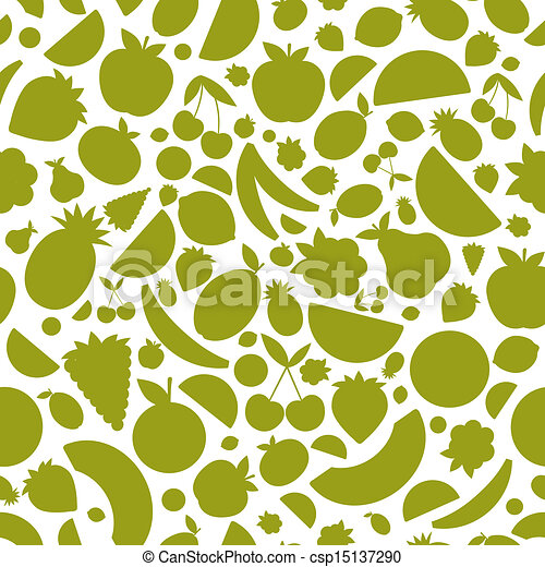 Fruits seamless pattern for your design - csp15137290