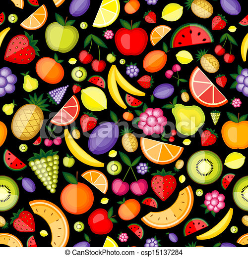 Fruits seamless pattern for your design - csp15137284
