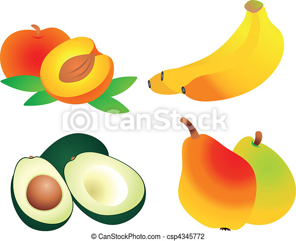 fruits vector set of fruit vectors to see similar please rh canstockphoto com fruit basket vectors fruit vectors ai
