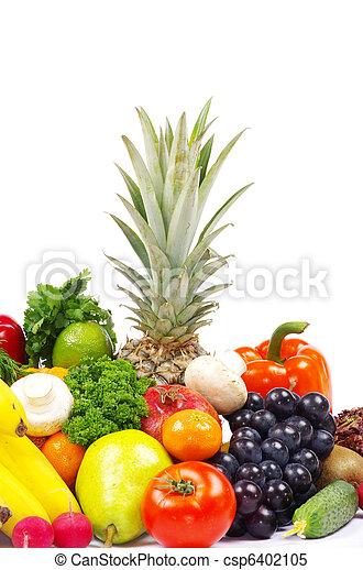 Verduras y frutas - csp6402105
