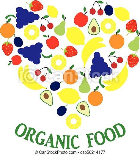 Fruits Veggies Heart Fruits And Veggies Heart