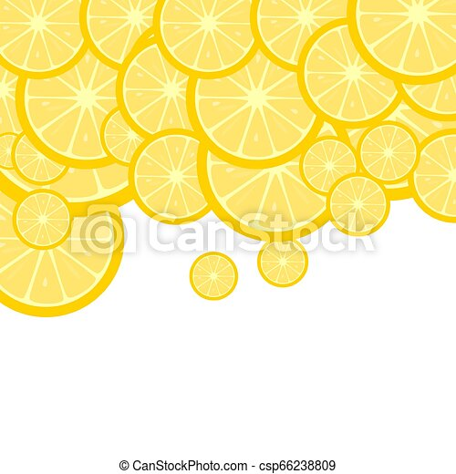 Fruity background with lemon slices - csp66238809