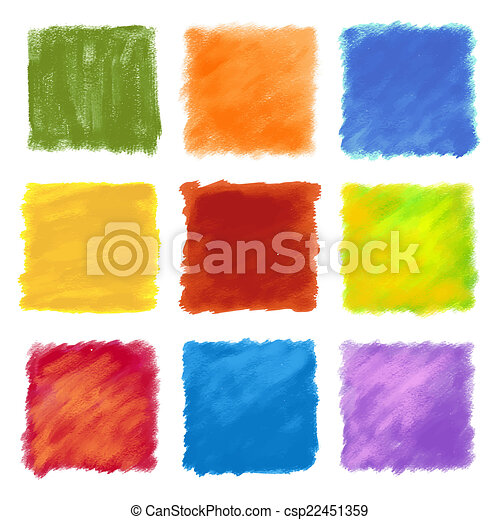 Fruity colored paint square backgro - csp22451359