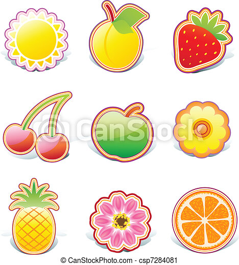fruity design elements  - csp7284081