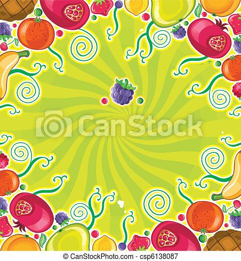 Fruity frame (fruits series) - csp6138087