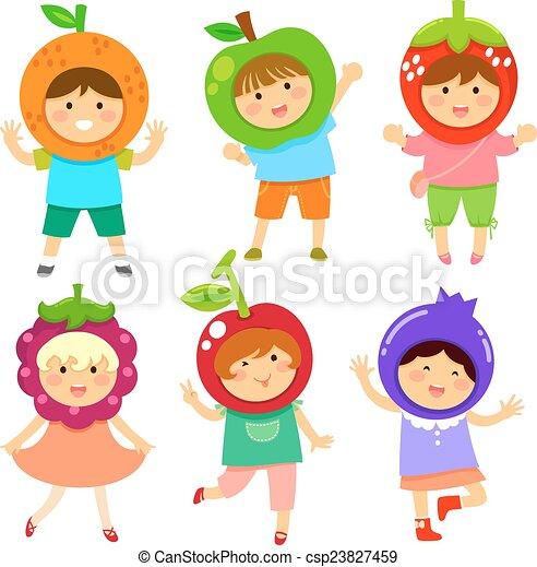 fruity kids - csp23827459