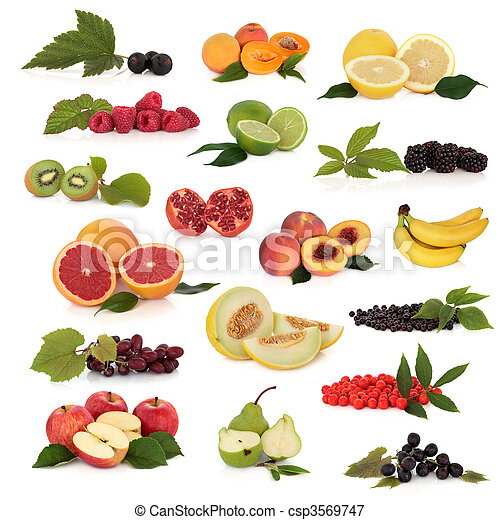 frukt, kollektion - csp3569747