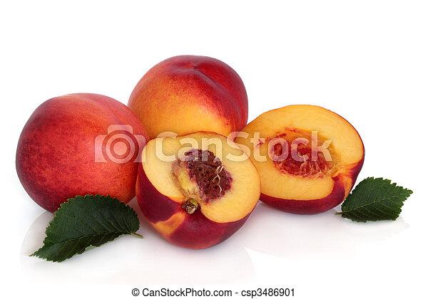 frukt, nektarin - csp3486901