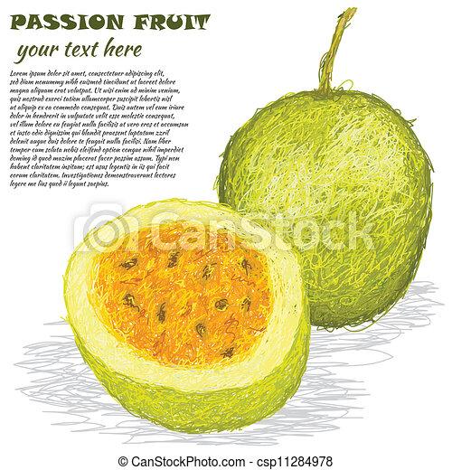 frukt, passion - csp11284978
