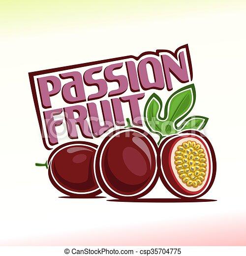 frukt, passion - csp35704775