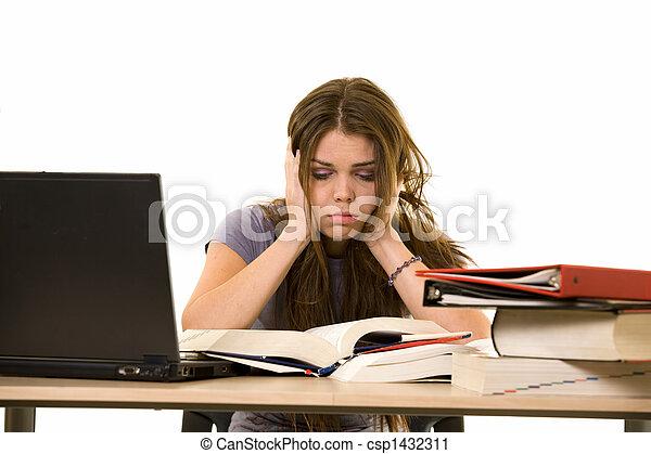 frustré, étudiant université - csp1432311
