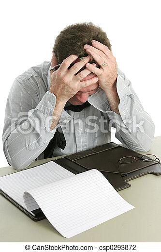 frustré, ouvrier - csp0293872