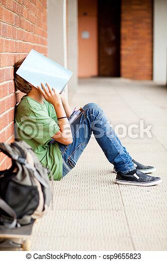 frustrated high school boy - csp9655823