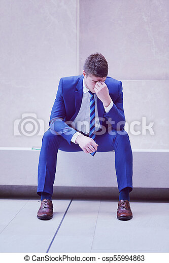 frustrated young business man - csp55994863