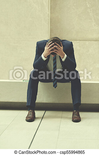 frustrated young business man - csp55994865
