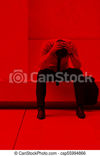 frustrated young business man - csp55994866