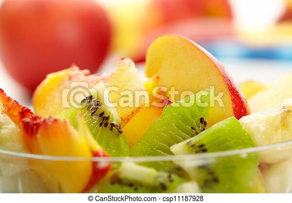 fruta exótica, salada - csp11187928