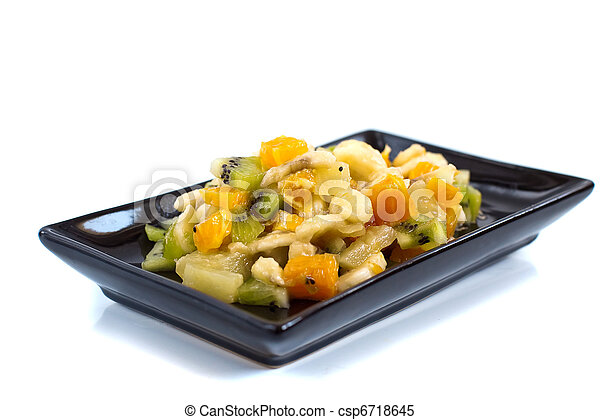 fruta, isolado, salada - csp6718645