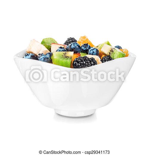 fruta, isolado, salada - csp29341173