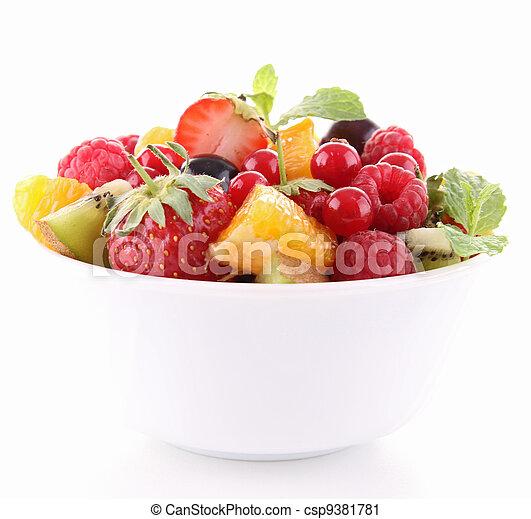 fruta, isolado, salada - csp9381781