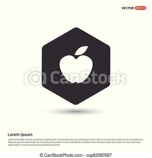icono de fruta de manzana - csp62060587