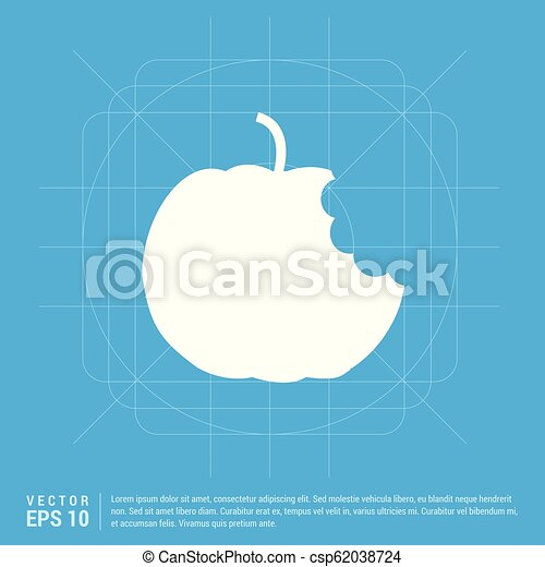 icono de fruta de manzana - csp62038724