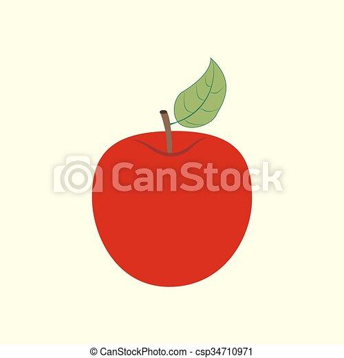 icono de fruta de manzana - csp34710971