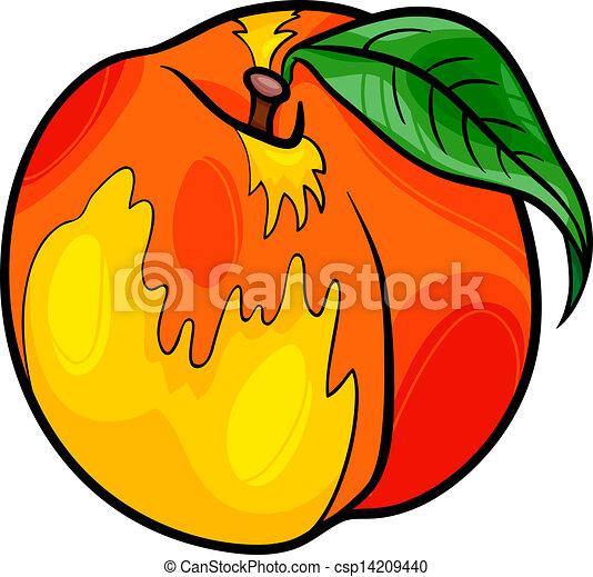 Frutta cartone animato illustrazione pesca pesca cibo for Clipart frutta