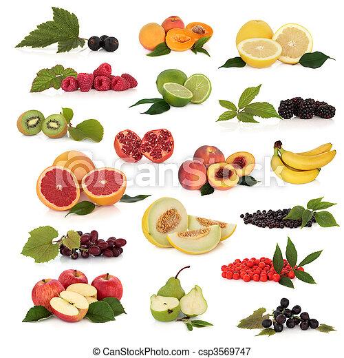 frutta, collezione - csp3569747