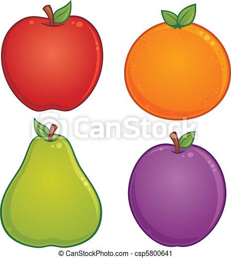 Frutta icone prugna fruit pera illustrazione for Clipart frutta