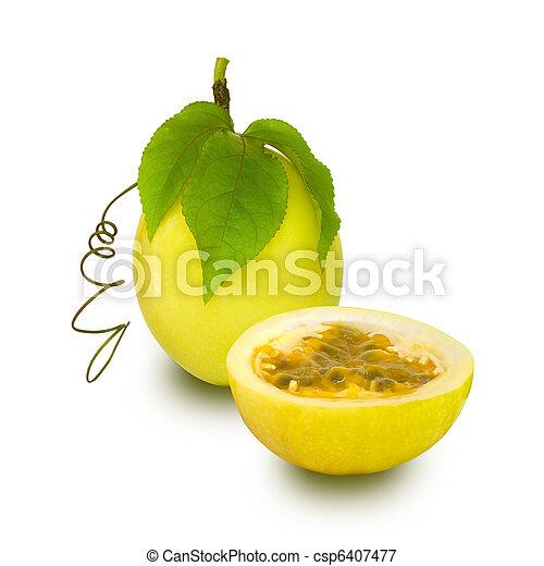 frutta, passione, isolato - csp6407477
