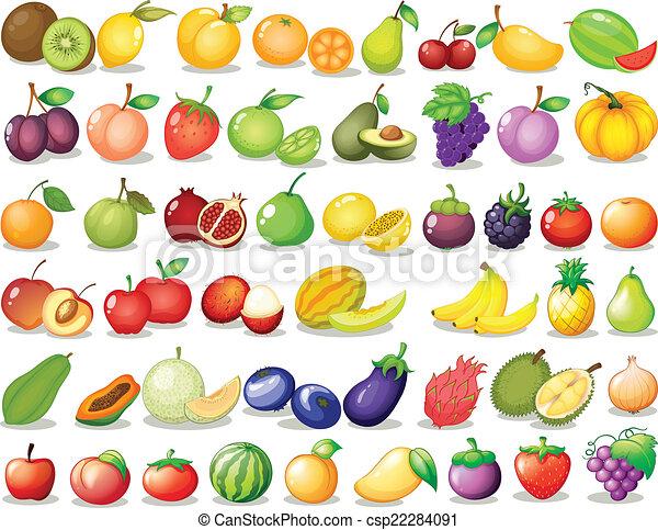 frutta, set - csp22284091