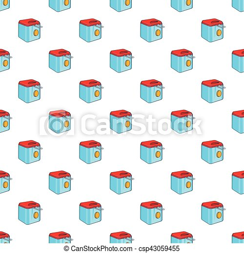Fryer pattern, cartoon style - csp43059455