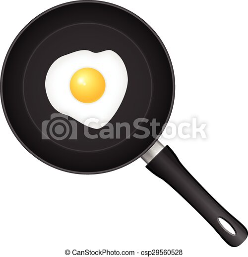 Frying pan egg - csp29560528