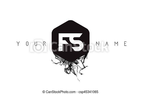 Fs letter logo design with black ink spill fs black ink clip fs letter logo design with black ink spill csp45341065 altavistaventures Gallery