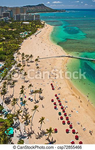 ft derussey waikiki beach - csp72855466