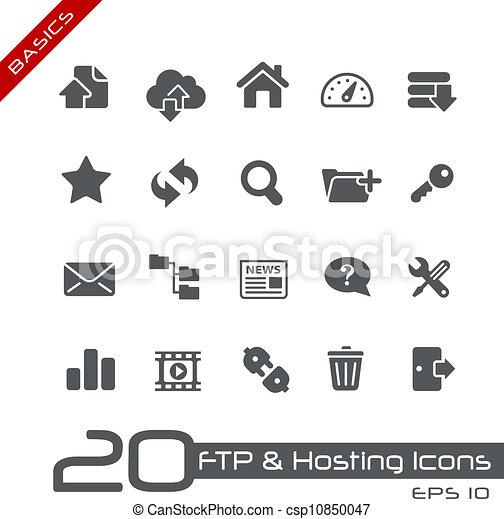 FTP & Hosting Icons // Basics Serie - csp10850047