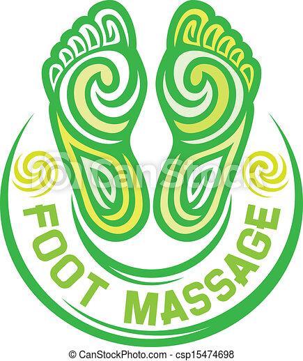 Fußmassage-Symbol - csp15474698