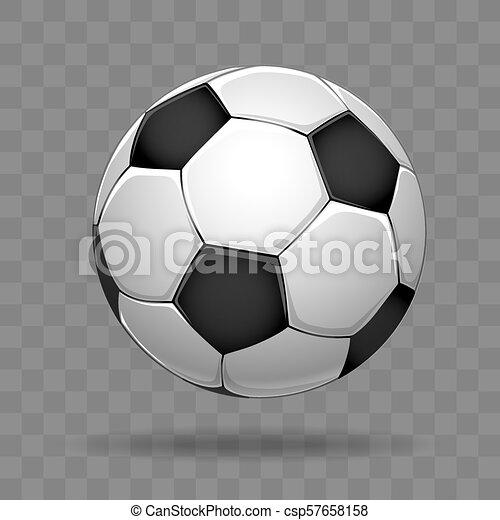 Fussballball Isoliert Im Transparenten Hintergrund