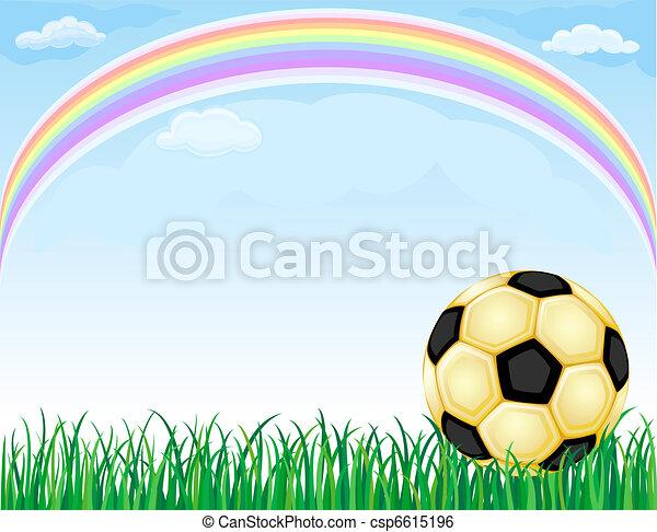 Fussball Ball Gold Regenbogen