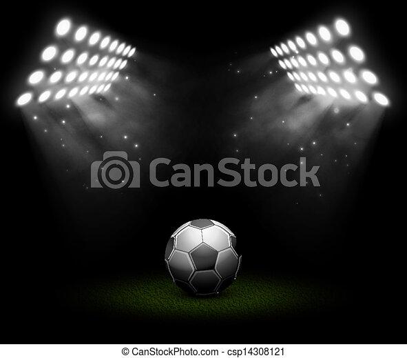 Fussball Ball 10 Kugel Licht Enthalt Eps Abbildung